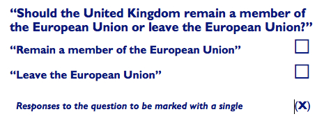 Text of the EU Referendum