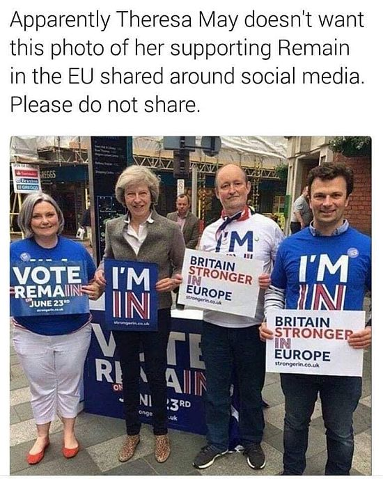 May campaigns for Remain 2016